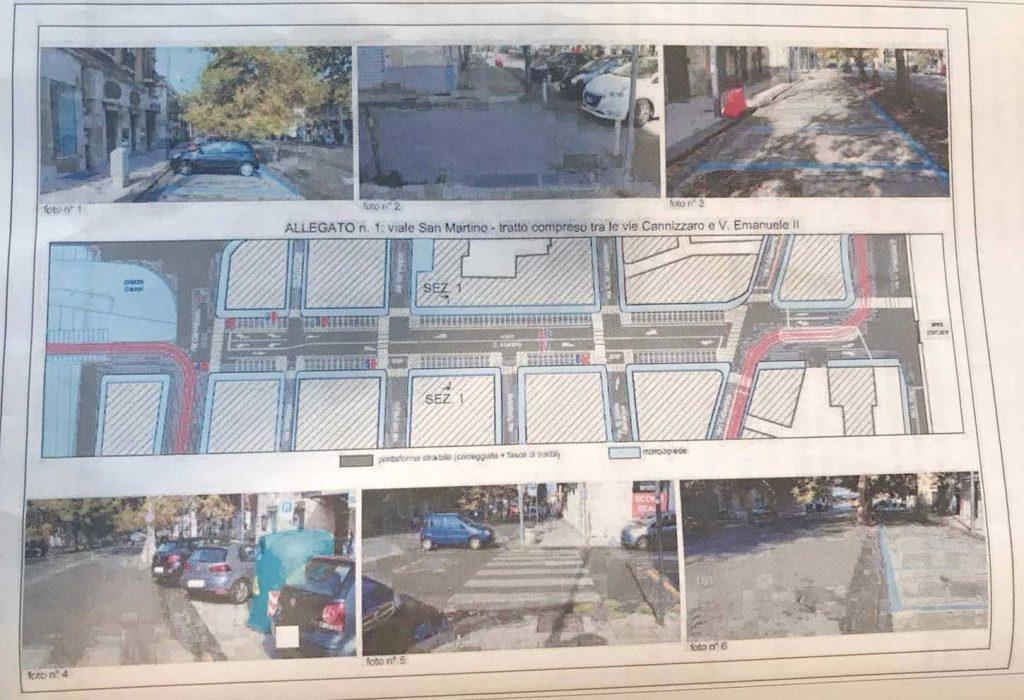 progetto isola pedonale viale san martino messina