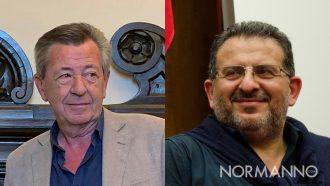 Foto che ritrae Enzo Trimarchi e Pippo Scattereggia - assessori giunta De Luca