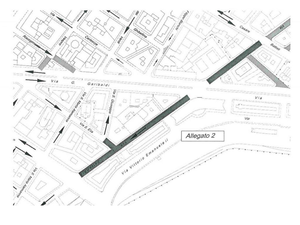 pedonalizzazione via i settembre: la mappa dell'area pedonale