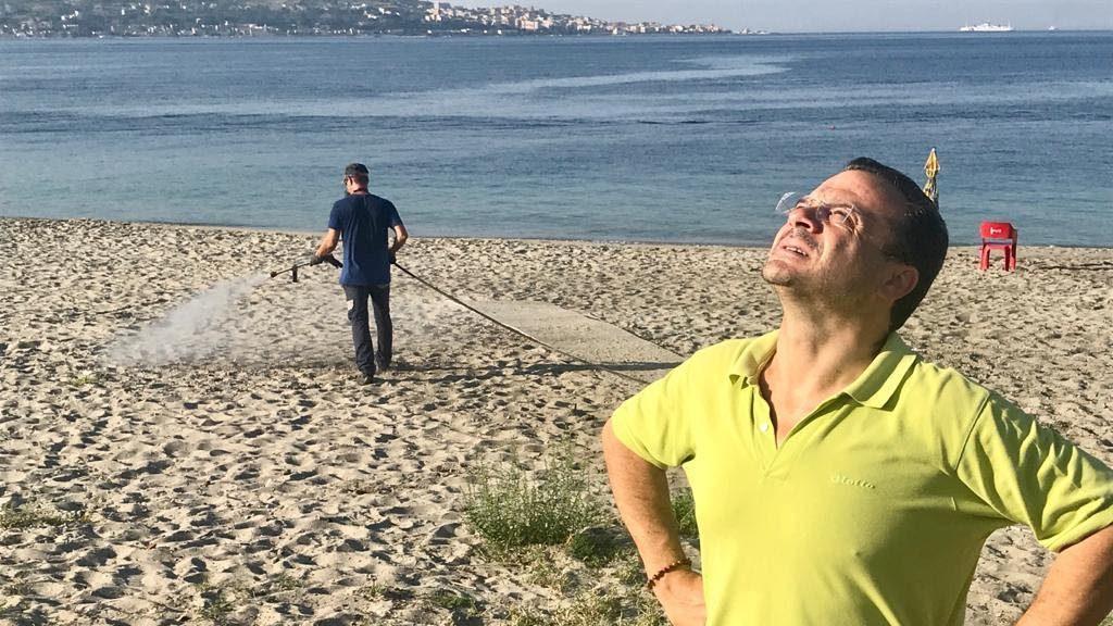 cateno de luca: sanificazione spiagge di messina per ferrgosto covid free