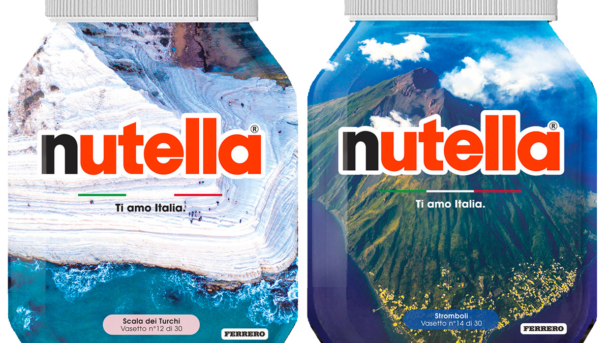 Nutella, Ti amo Italia - Stromboli, Scala dei Turchi