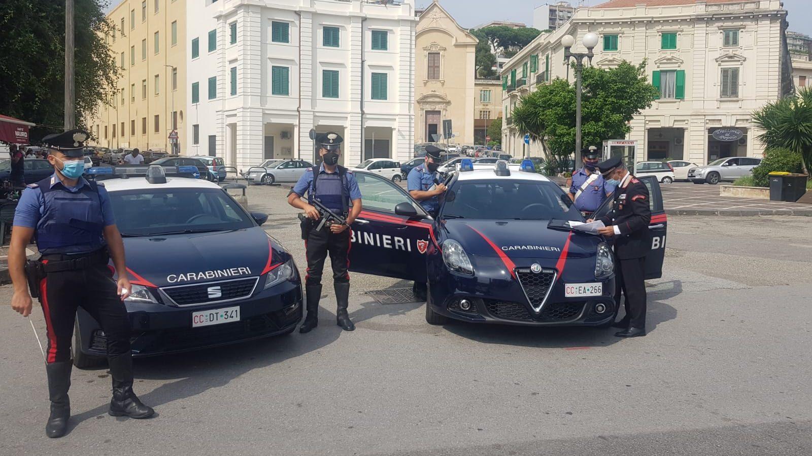 carabinieri a messina a piazza lo sardo dopo un tentato omicidio