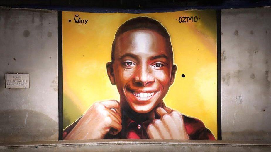 murales dedicato a willy monteiro duarte da Ozmo