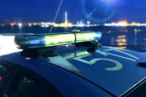 foto notturna della polizia di messina