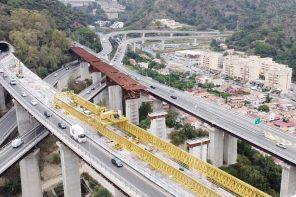 lavori a viadotto ritiro, a Messina (foto © screen video Toto costruzioni)