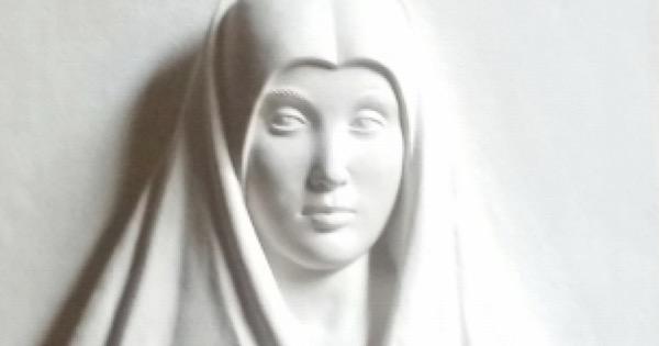 annunciata di antonello da messina bassorilievo a palazzo abatellis