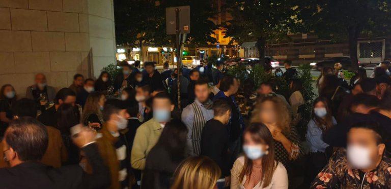 controlli in centro a messina sulle norme anti coronavirus durante la movida notturna