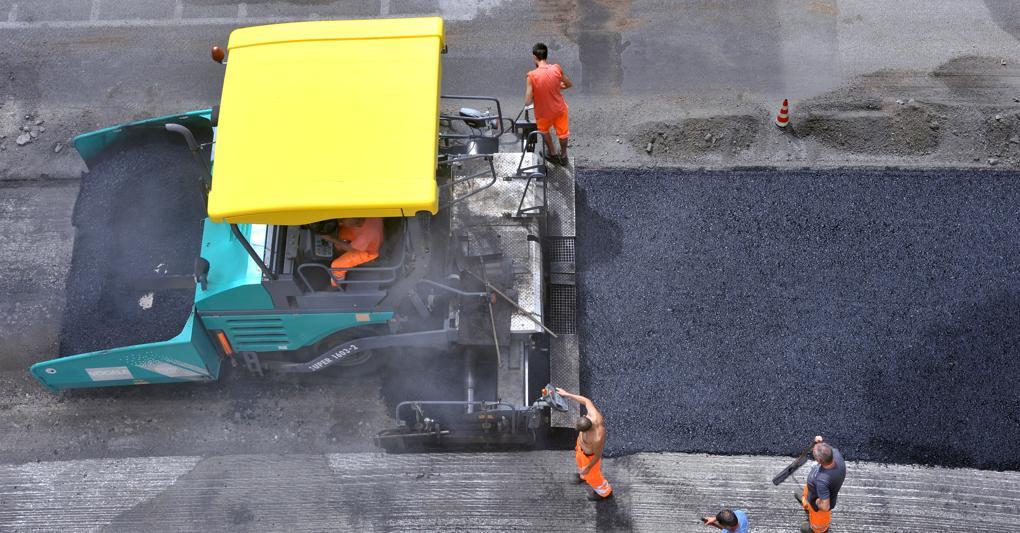 strada creata con asfalto riciclato per le quattro idee per messina