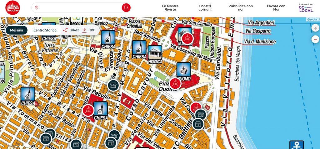 progetto cartografia messina