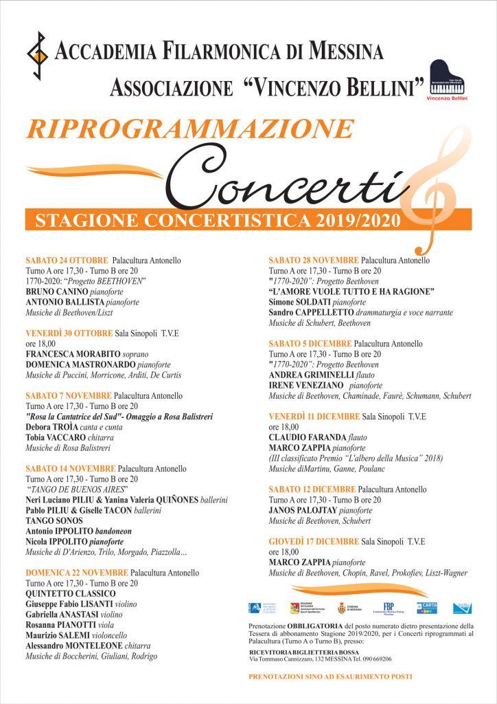 concerti associazione bellini messina: il programma