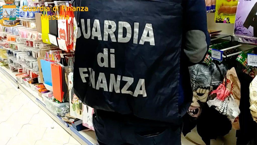 sequestro della guardia di finanza in un negozio di messina