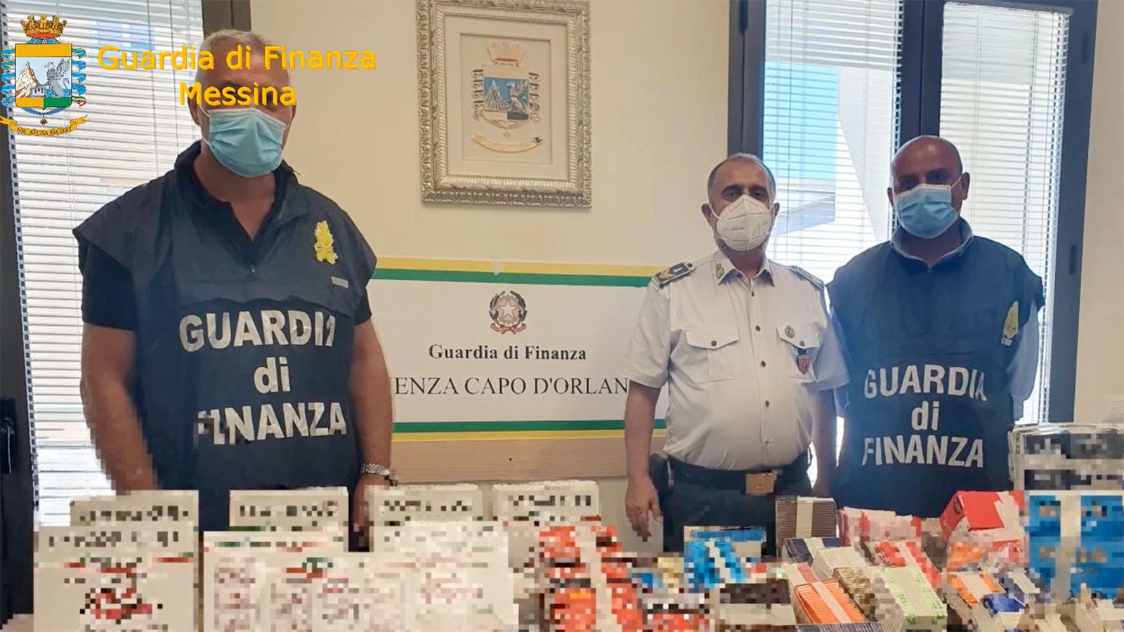 sequestro a capo d'orlando, in provincia di messina, di prodotti per fumatori venduti senza autorizzazione