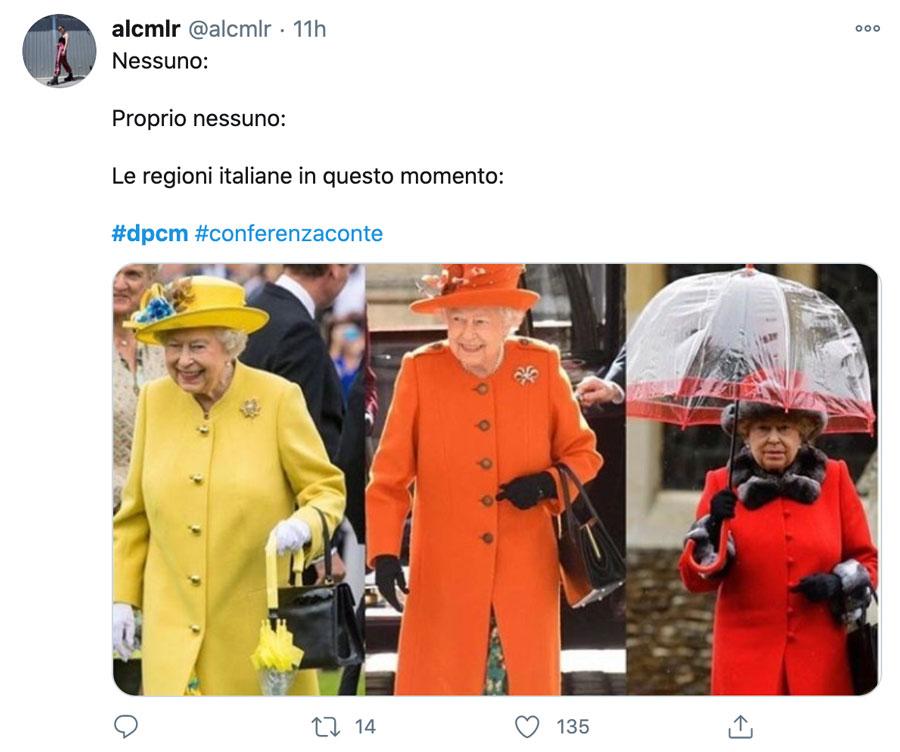 meme su zone gialle, arancioni e rosse per il dpcm di conte