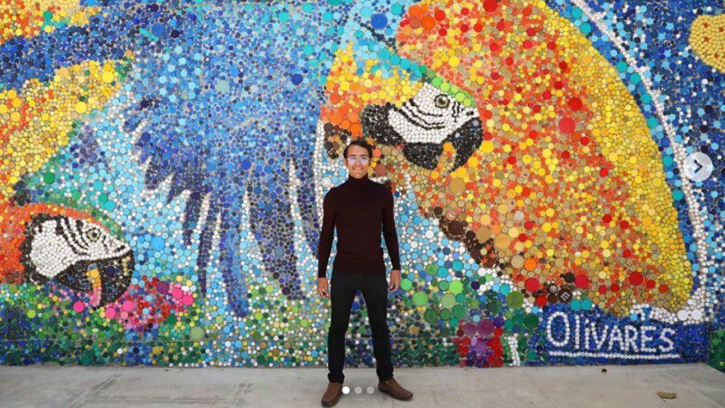 quattro idee per messina: un murales realizzato a caracas con 200mila tappi di bottiglie