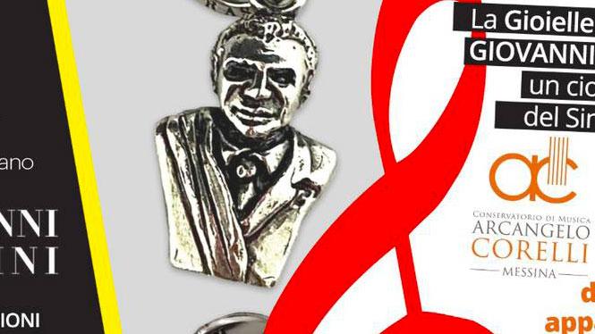"""il ciondolo """"catenox"""" realizzato dalla giovanni raspini e raffigurante cateno de luca sindaco di messina"""