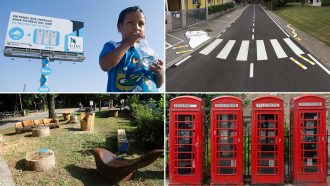 collage delle quattro idee dal mondo per rendere messina più bella