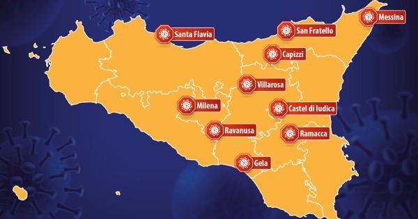 coronavirus: in sicilia 10 zone rosse