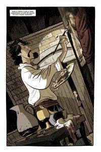 Caravaggio e la ragazza, fumetto di lelio bonaccorso e nadia terranova