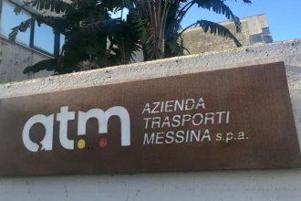 logo nuovo sul palazzo di ATM Messina Spa