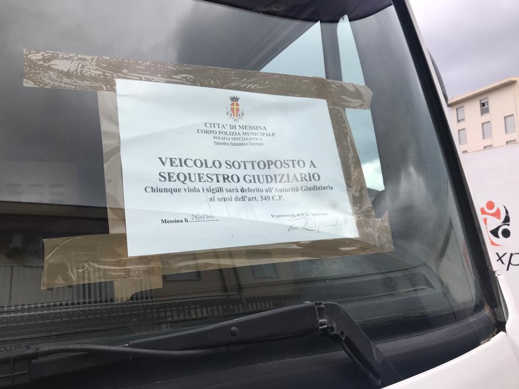 sequestro discarica abusiva a messina, a santa lucia sopra contesse