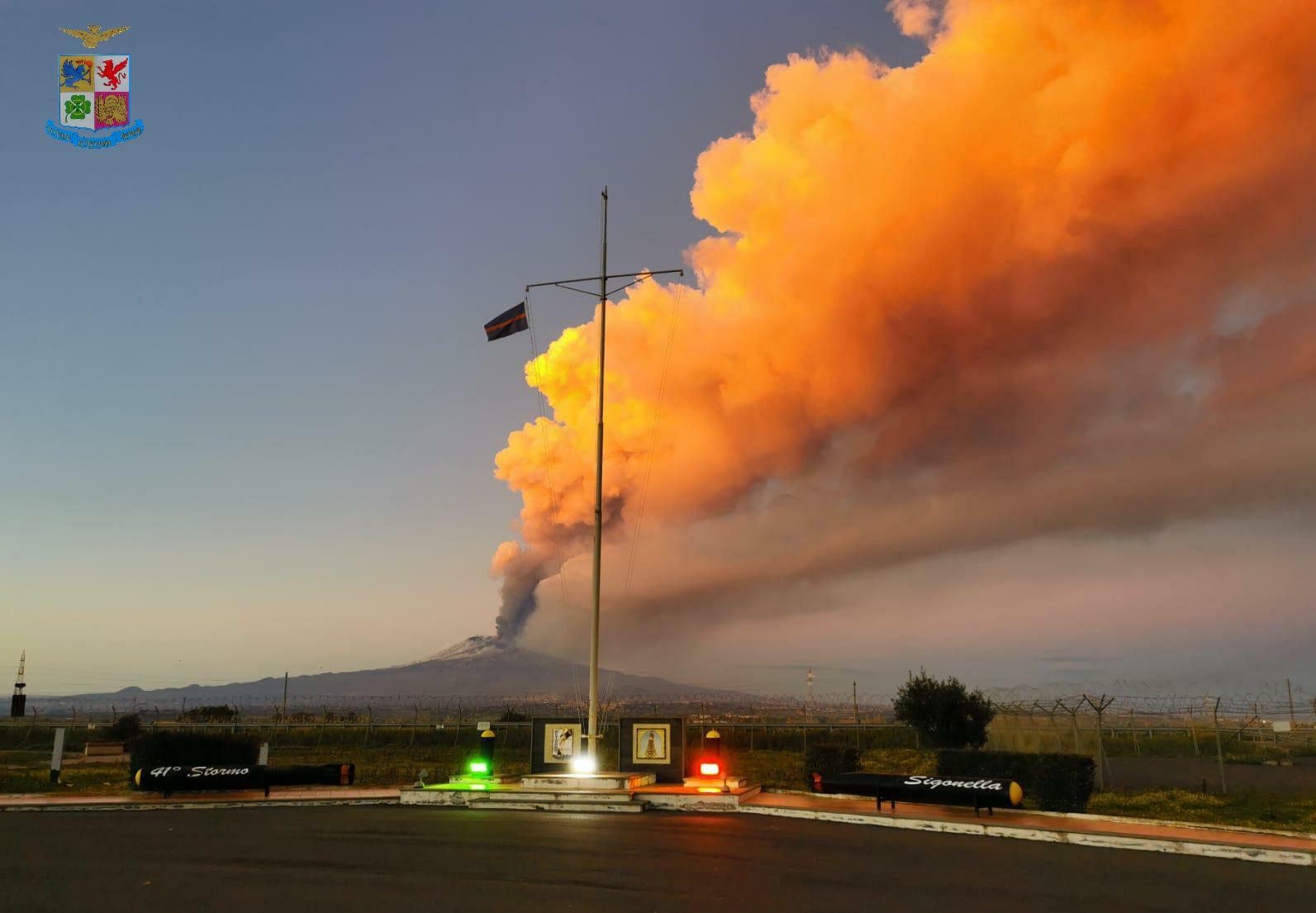 eruzione etna 16 febbraio 2021
