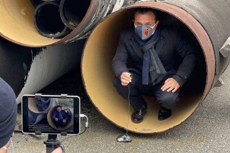 cateno de luca annuncia la consegna dei lavori ad amam per l'acquedotto di fiumefreddo