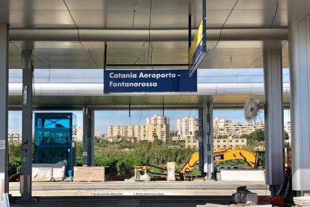 stazione dei treni fontanarossa per l'aeroporto di catania