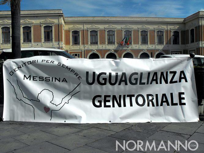 Foto dell'inaugurazione della prima panchina blu d'Italia - Messina