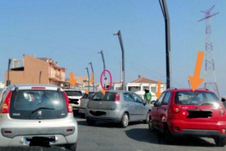 caos auto a torre faro parcheggiate in divieto