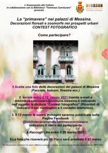 locandina del contest fotografico sulla primavera a messina