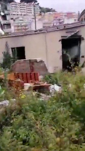 rifiuti nelle baracche di camaro sottomontagna
