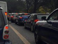 coda per incidente (tamponamento) sull'autostrada A20 Messina Palermo