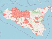 mappa delle zone rosse in Sicilia (covid) della Protezione Civile