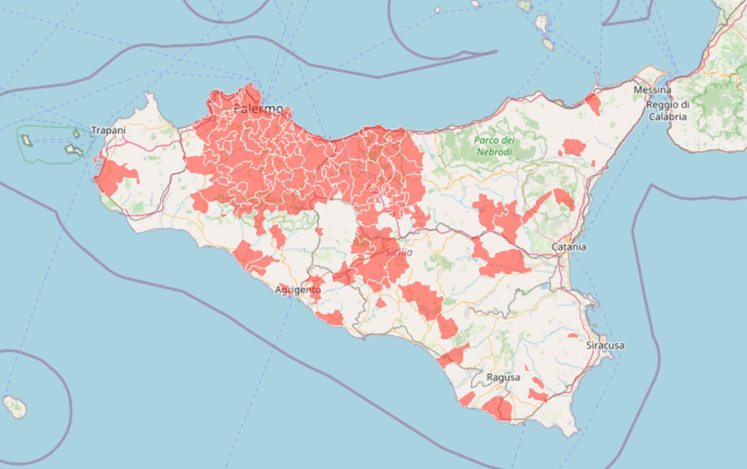 Cartina Ferroviaria Sicilia.Biancavilla Sicilia Mappa