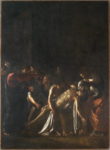 """""""La resurrezione di Lazzaro"""", opera di Caravaggio esposta al museo di Messina (MuMe)"""