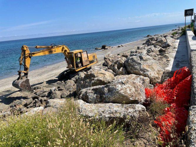 erosione costiera, lavori a santo saba