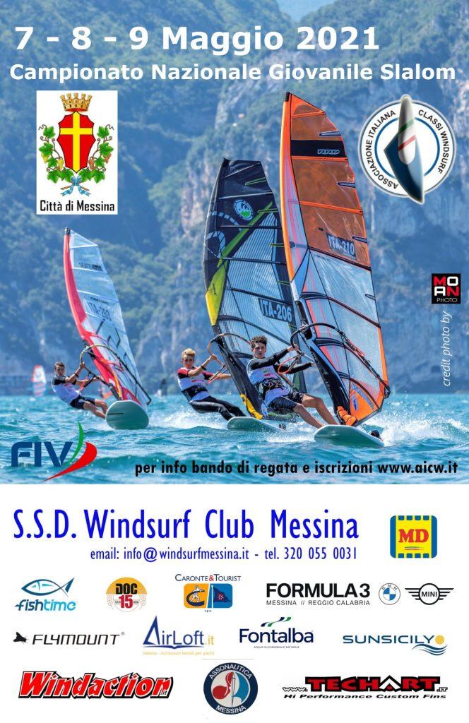 locandina windsurf messina