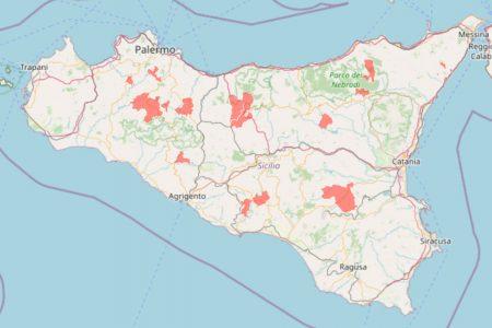 mappa delle zone rosse della sicilia aggiornata al 19 maggio 2021 (protezione civile)