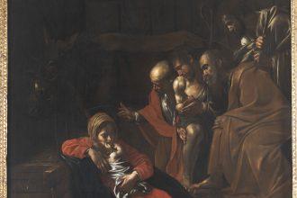 """""""L'adorazione dei pastori"""" opera di Caravaggio esposta al museo di Messina (MuMe)"""