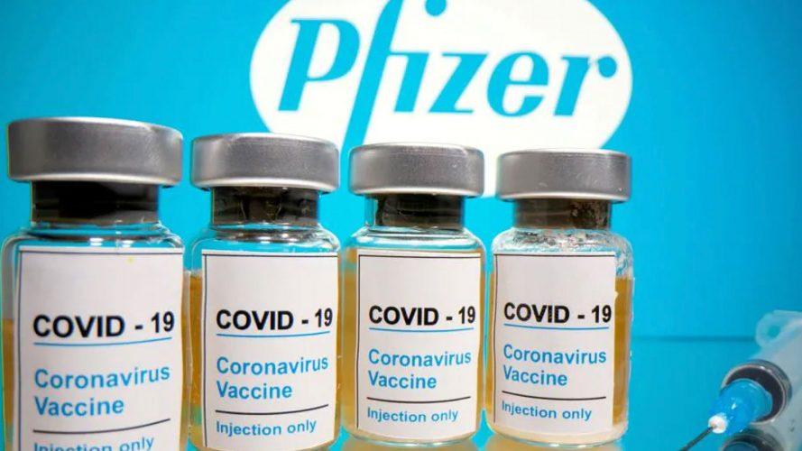 fiale di vaccino anti-covid pfizer