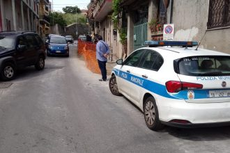 polizia municipale in via del santo