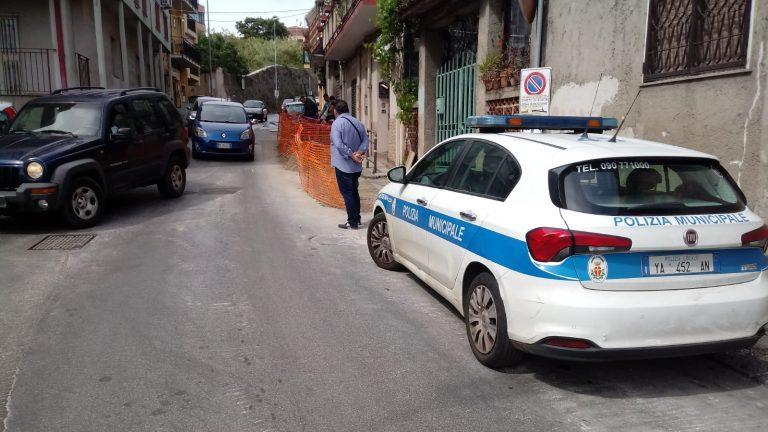 polizia municipale in via del santo