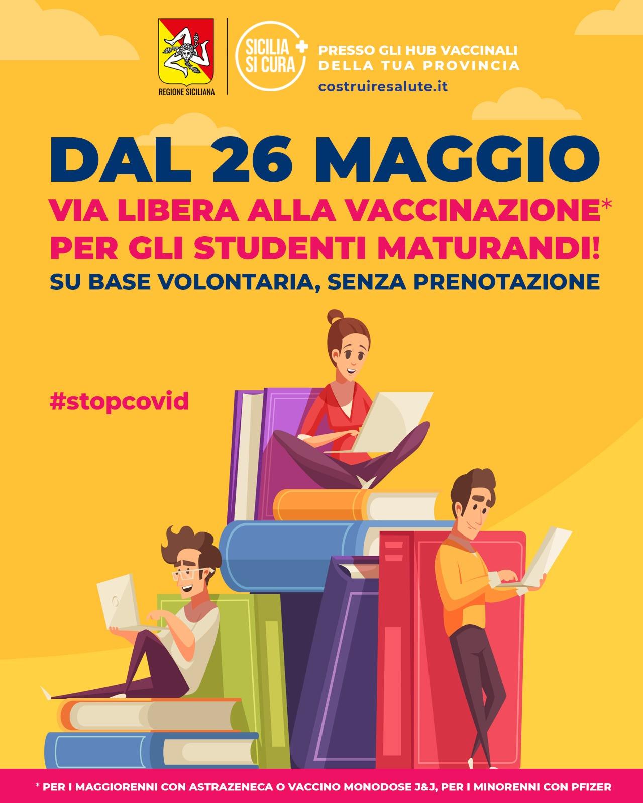 vaccino ai maturandi in sicilia