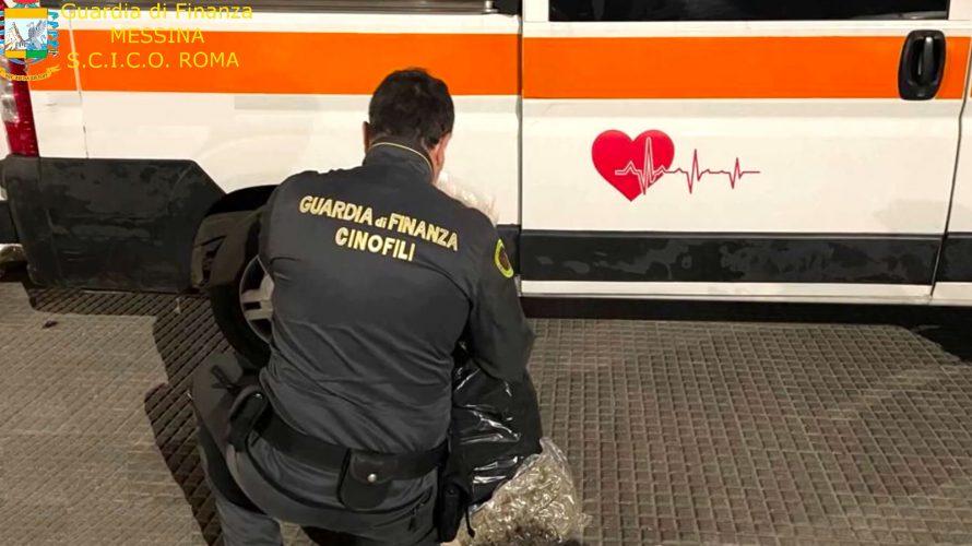 trasportano droga in ambulanza durante la pandemia coronavirua: arresti a messina