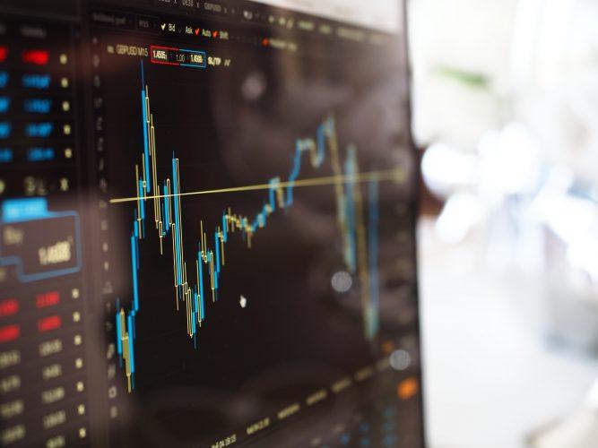 Foto grafico andamento azionario
