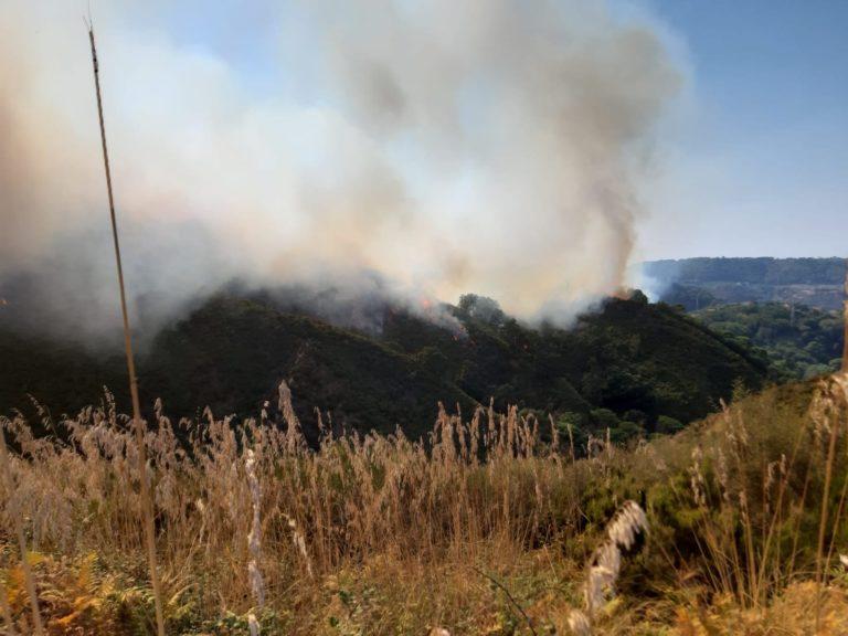protezione civile comunale, incendio campo italia a messina