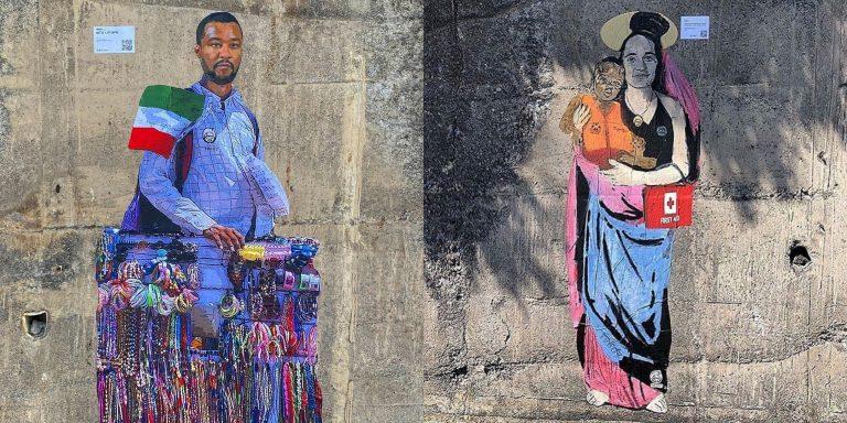 murale salvini taormina