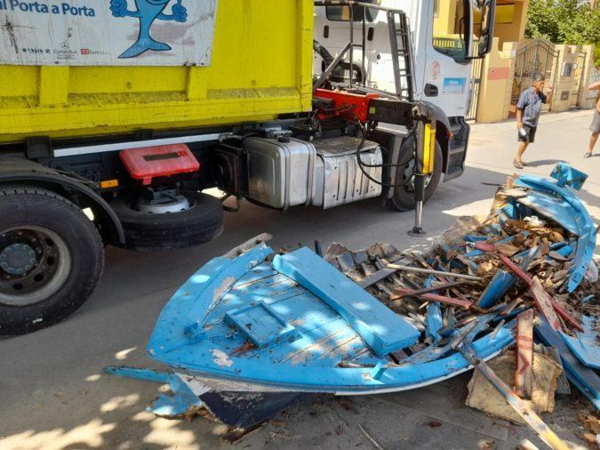 rimozione barche e rifiuti ad acqualadroni, messina