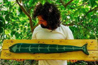trinstyle, pesce di legno di francesco fiamingo