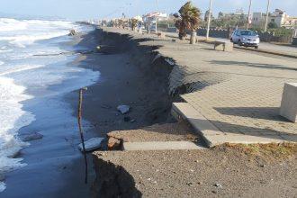 erosione costiera barcellona